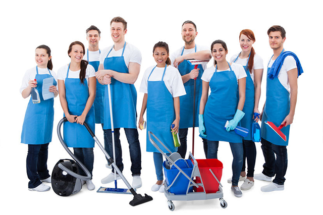Image of cleaning team with equipment. Office and home cleaning services in Hull, East Yorkshire, North Lincolnshire including Beverley, Scunthorpe, Grimsby, Howden, Selby, Driffield, Hessle, Cottingham, Market Weighton.